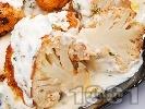 Рецепта Паниран карфиол със сос от кисело мляко